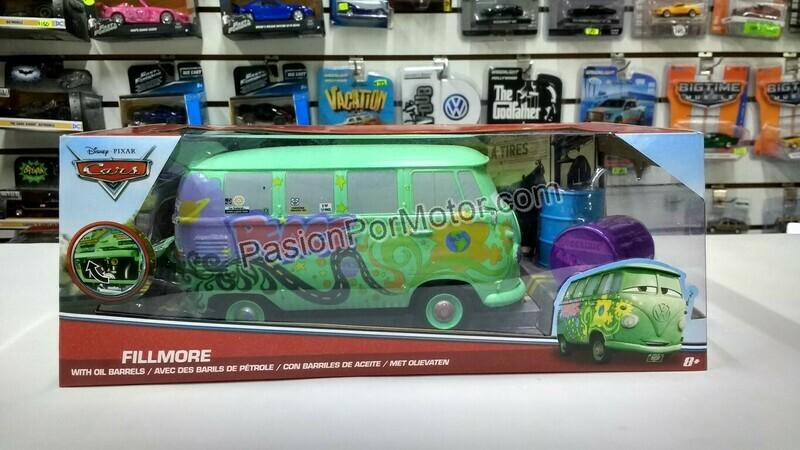 1:24 Volkswagen Bus Combi Fillmore Con Tambos Cars Jada Toys Metals Disney En Caja