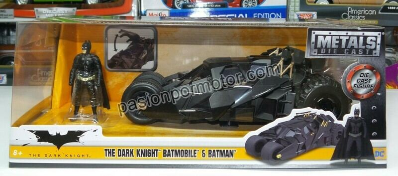1:24 Batimóvil 2005 Tumbler Negro The Dark Night Jada Toys Metals DC Comics En Caja