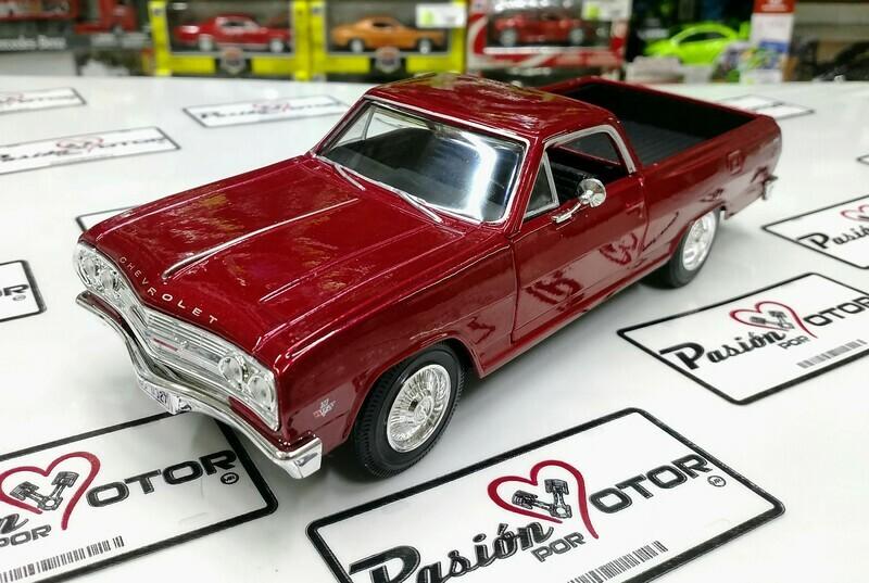 1:25 Chevrolet El Camino 1965 Rojo Pick Up Maisto Special Edition En Display / A Granel 1:24