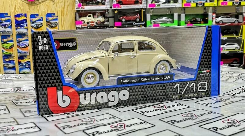 1:18 Volkswagen Beetle Kafer 1955 Oval Window Beige Bburago Vocho