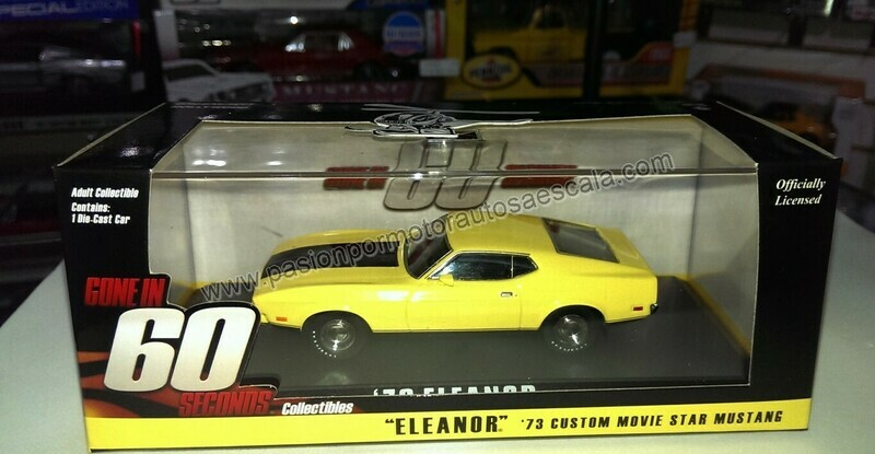1:43 Ford Mustang 1973 Amarillo Eleanor 60 Segundos Gone In 60 Seconds Greenlight Mach 1