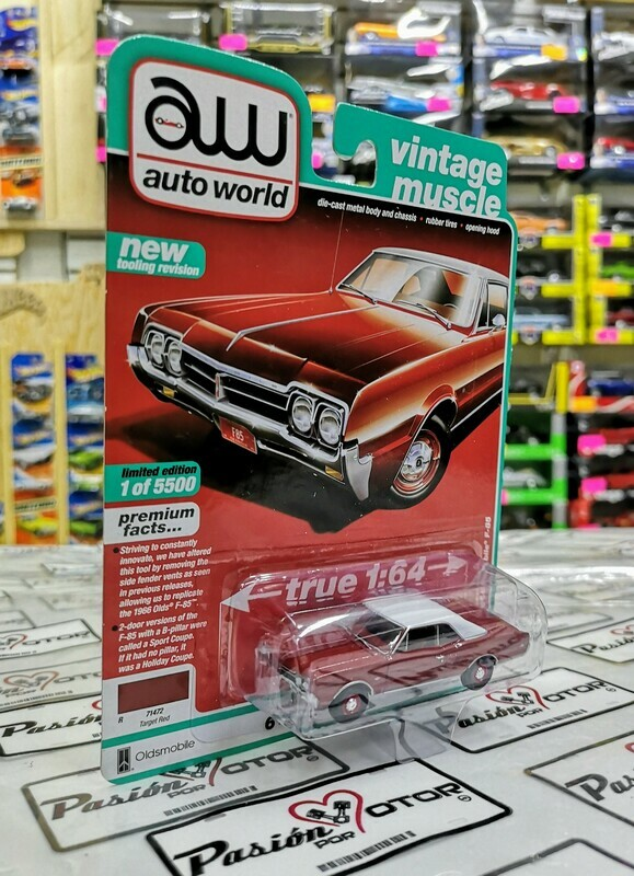1:64 Oldsmobile F-85 Coupe 1966 Rojo Auto World Premium Series 4