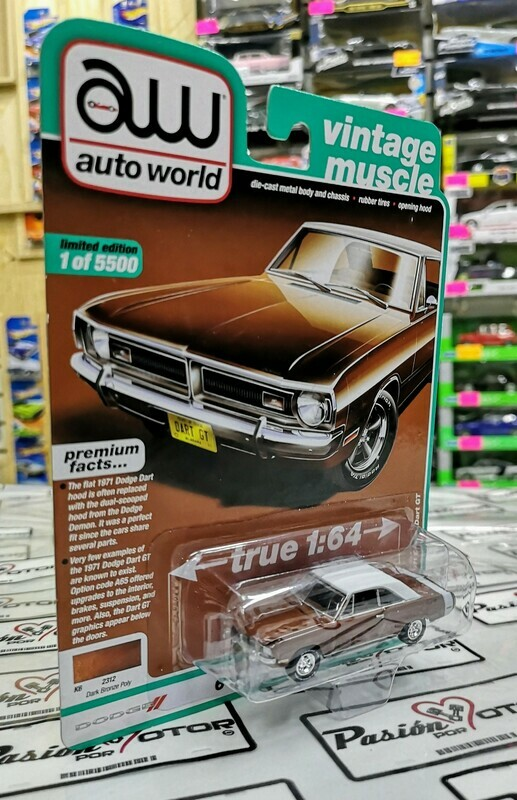 1:64 Dodge Dart GT 1971 Bronce Auto World Premium Serie 4