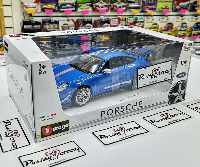 1:18 Porsche 911 GT3 RS 4.0 2011 Azul Bburago