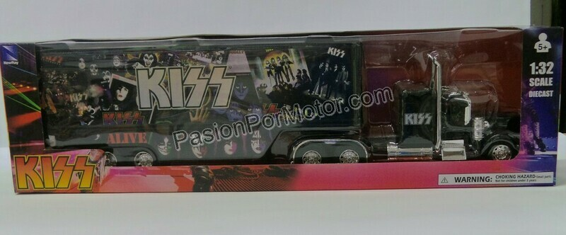 1:32 Kenworth W900 1979 Custom C Trailer Caja KISS New Ray