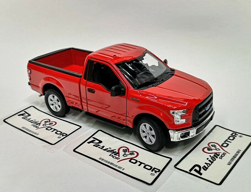 1:24 Ford F-150 Pick Up Cabina Regular 2015 Rojo Welly En Display / A Granel