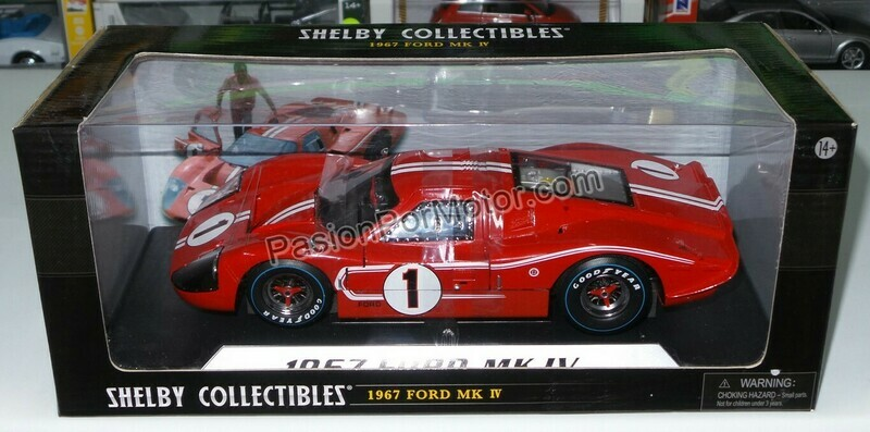 1:18 Ford GT40 MK IV 1967 Rojo Dorso 1 Shelby Collectibles Cars Le Mans