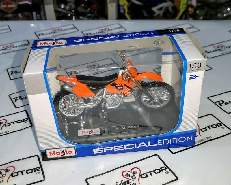 1:18 KTM 525 SX Naranja Motocicleta Maisto Special Edition Moto