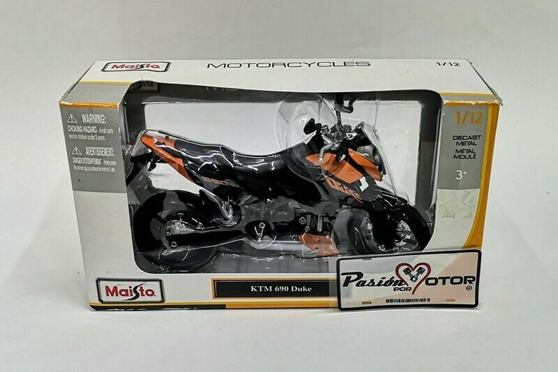 1:12 KTM 690 Duke Naranja Moto Maisto Motorcycles