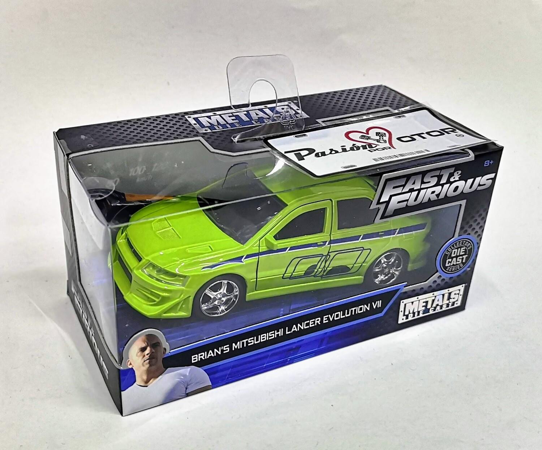 1:32 Mitsubishi Lancer Evolution VII Brian´s Jada Toys Rapido y Furioso 2 En Caja