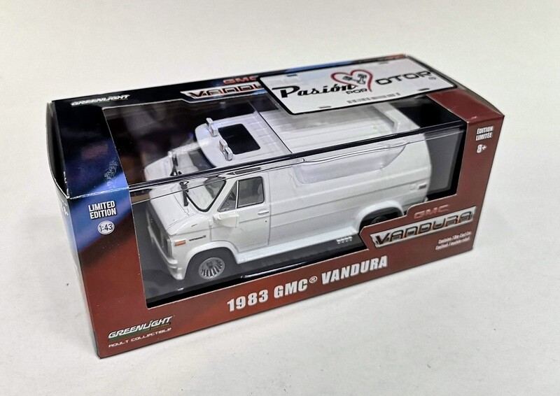 1:43 GMC Vandura 1983 Panel Blanco Greenlight