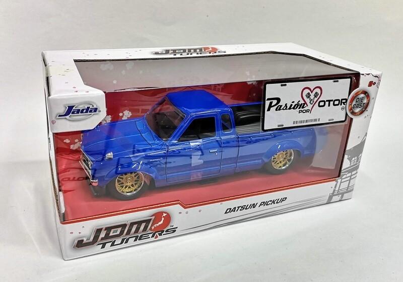 1:24 Datsun 620 Pick Up 1972 Azul Jada Toys JDM Tuners Nissan C Caja