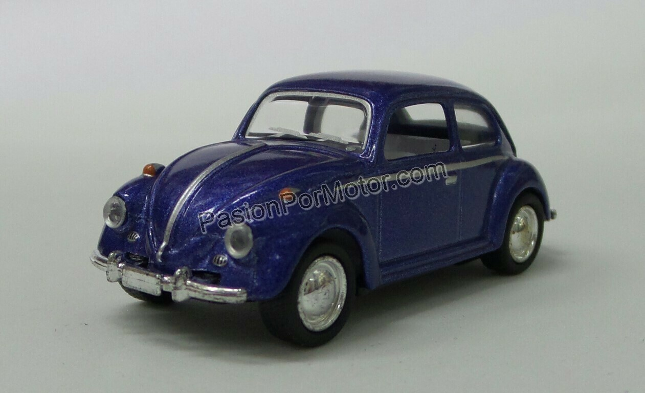 1:64 Volkswagen Beetle 1967 Azul Kinsmart En Display / a Granel
