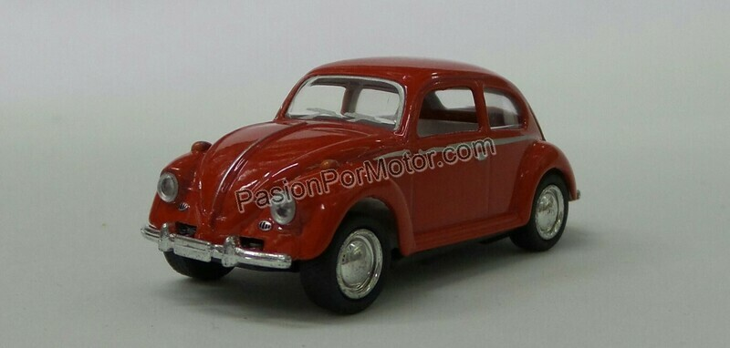 1:64 Volkswagen Beetle 1967 Rojo Kinsmart En Display / a Granel
