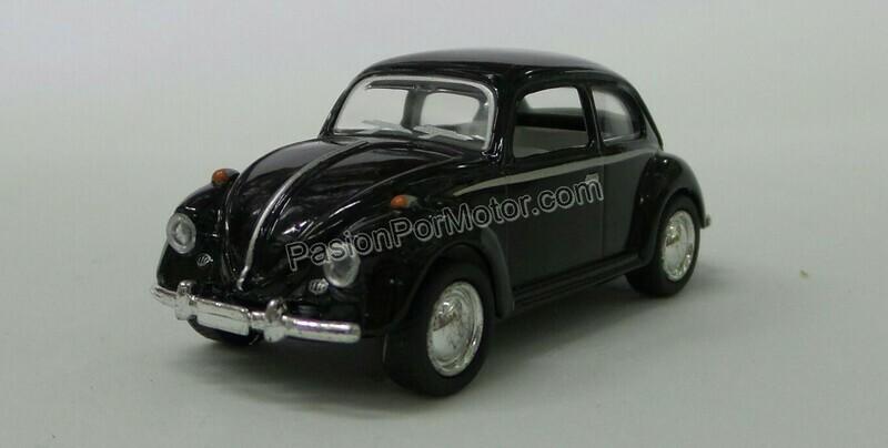 1:64 Volkswagen Beetle 1967 Negro Kinsmart En Display / a Granel
