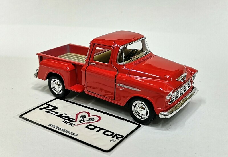1:38 Chevrolet 3100 Stepside Pick Up 1955 Rojo  Kinsmart En Display / A Granel Chevy 1:32
