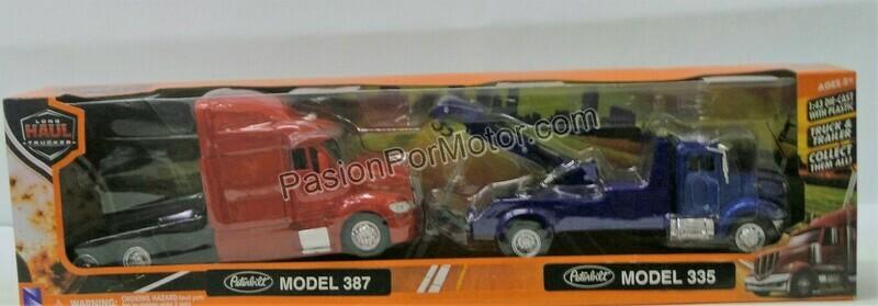 1:43 Peterbilt Model 335 Grua de Arrastre + Peterbilt Model 387 Cabina New Ray