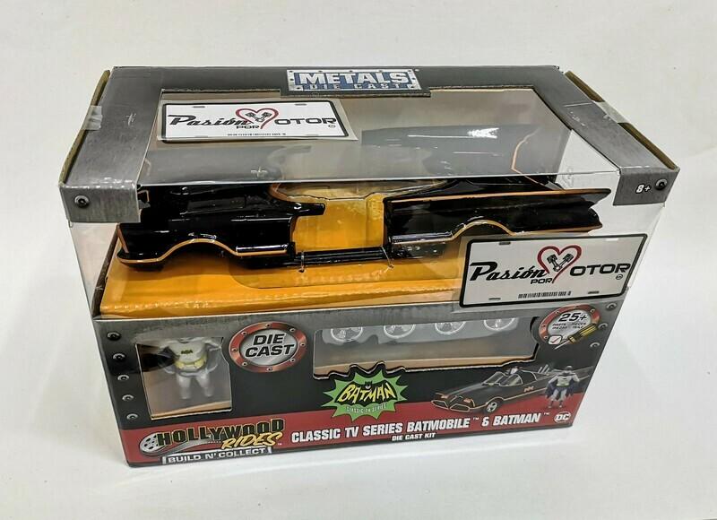 1:24 Batimovil TV Series 1966 Para Armar Batman Jada Toys Metals Build N'Collect Para Armar