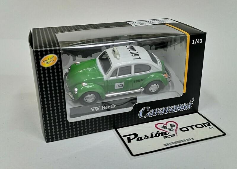 1:43 Volkswagen Beetle Taxi Ecologico Mexico Cararama