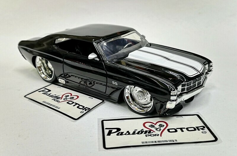 1:24 Chevrolet Chevelle SS 1971 Negro Jada Toys / Big Time Muscle En Display / A Granel