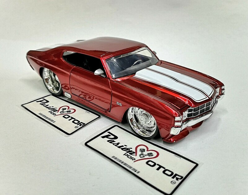 1:24 Chevrolet Chevelle SS 1971 Rojo Jada Toys / Big Time Muscle En Display / A Granel