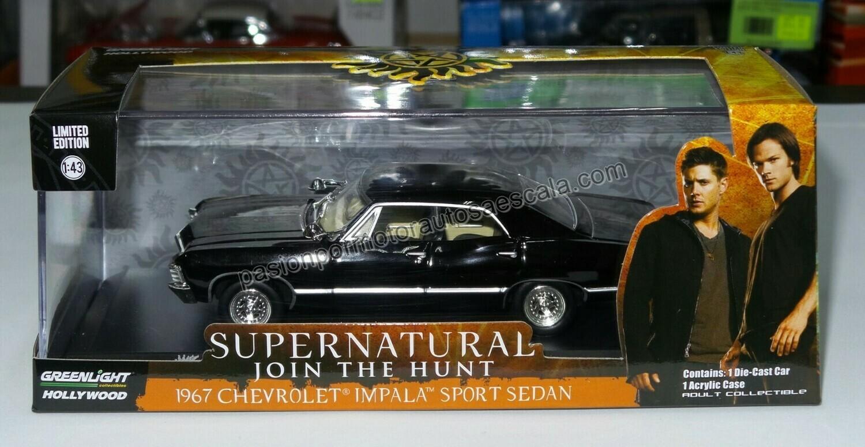 1:43 Chevrolet Impala Sport Sedan 1967 Negro Supernatural Greenlight Hollywood