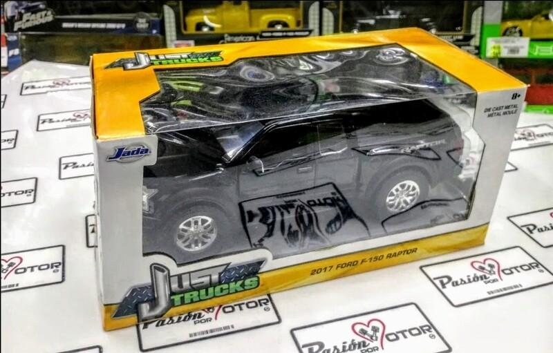 1:24 Ford F-150 Raptor 2017 Negro Jada Toys Just Trucks C Caja