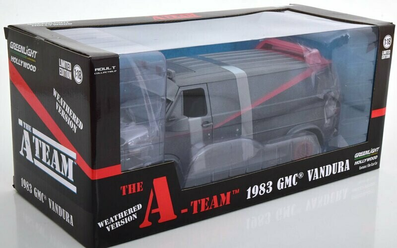 1:18 GMC Vandura 1983 The A Team Dirty Los Magnificos Greenlight