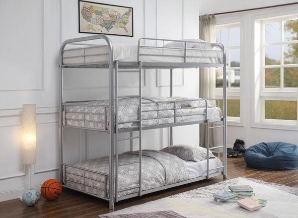TWIN/TWIN/TWIN BUNK BED WITH MATTRESS