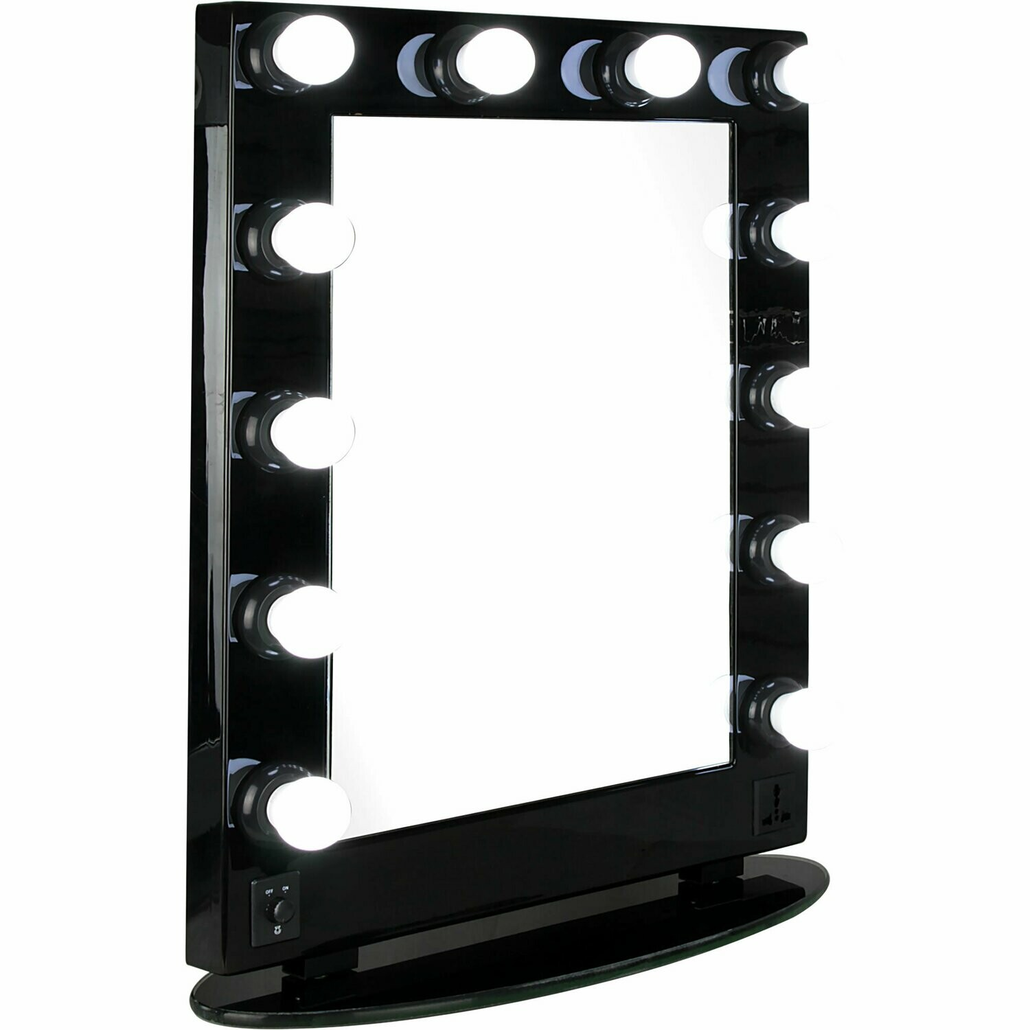BLACK HOLLYWOOD VANITY MIRROR