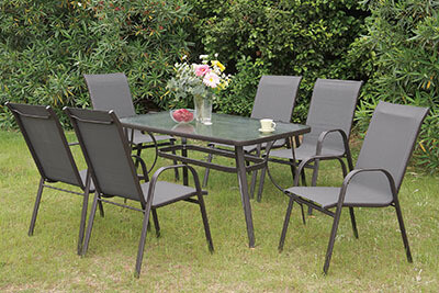 PATIO FURNITURE DINING TABLE SET