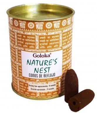 Goloka Nature's Nest - 24 Coni di incenso Backflow
