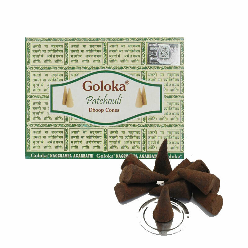 Goloka Patchouli​ - 10 Coni di incenso