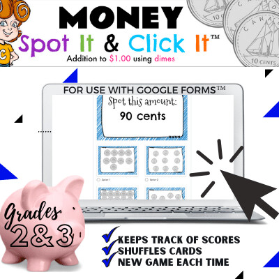 Money: Addition to $1 {skip counting with dimes}