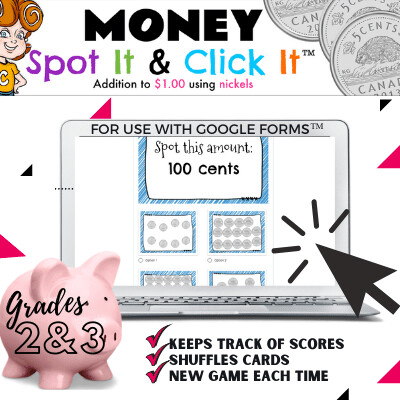 Money: Addition to $1 {skip counting with nickels}