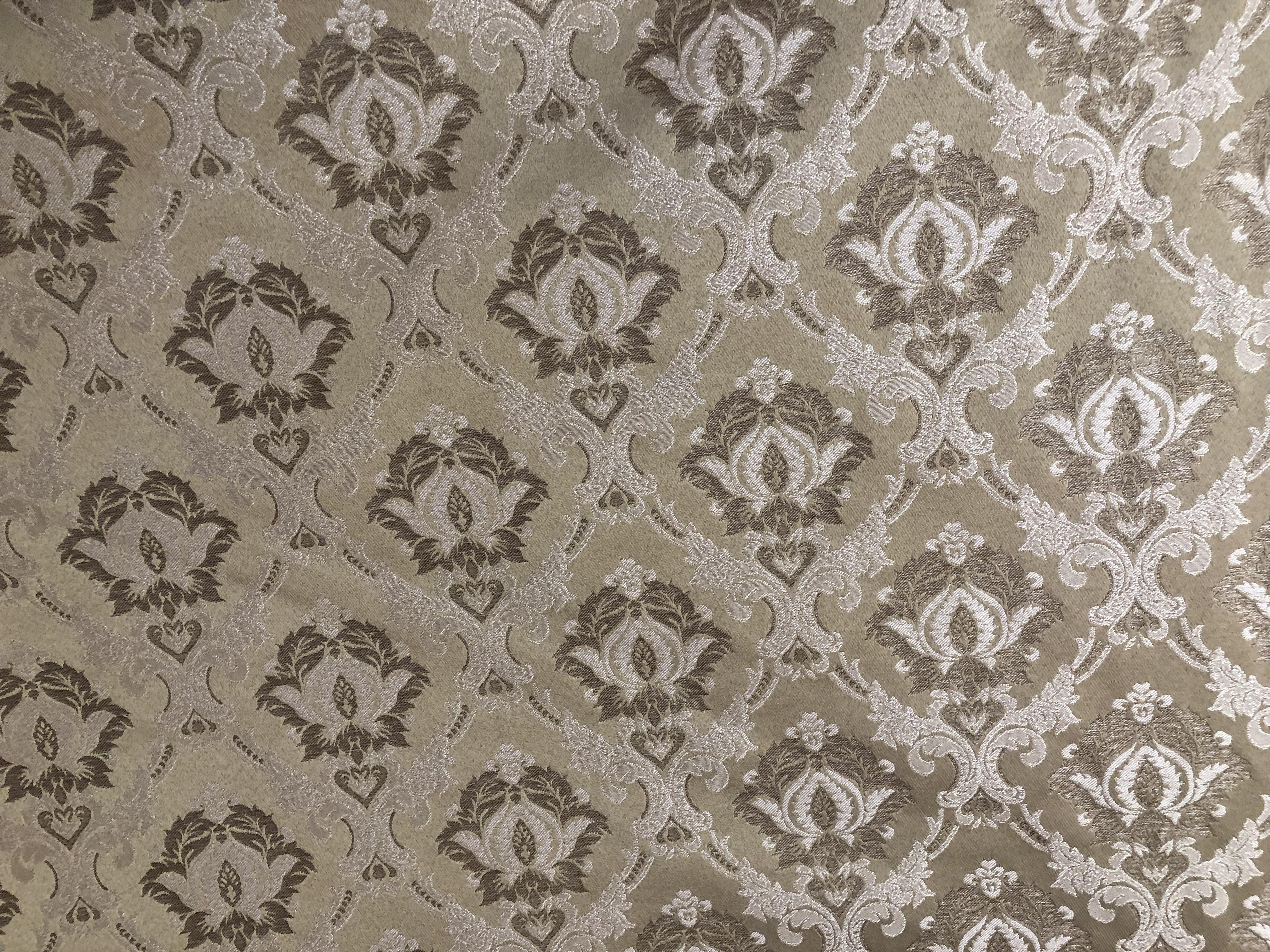 Beige Designed upholstery fabric 00010