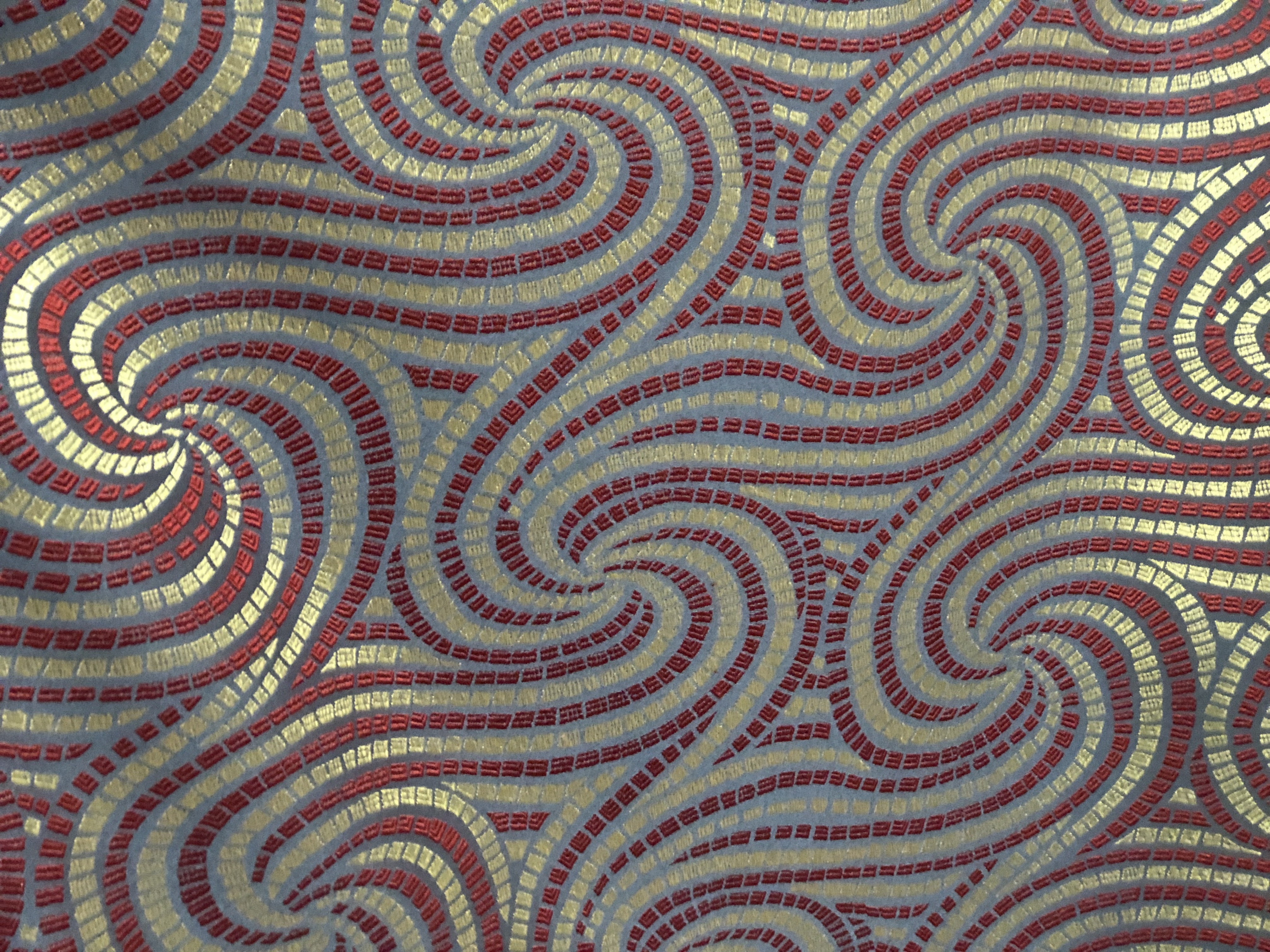 Spiral designed upholstery Fabric