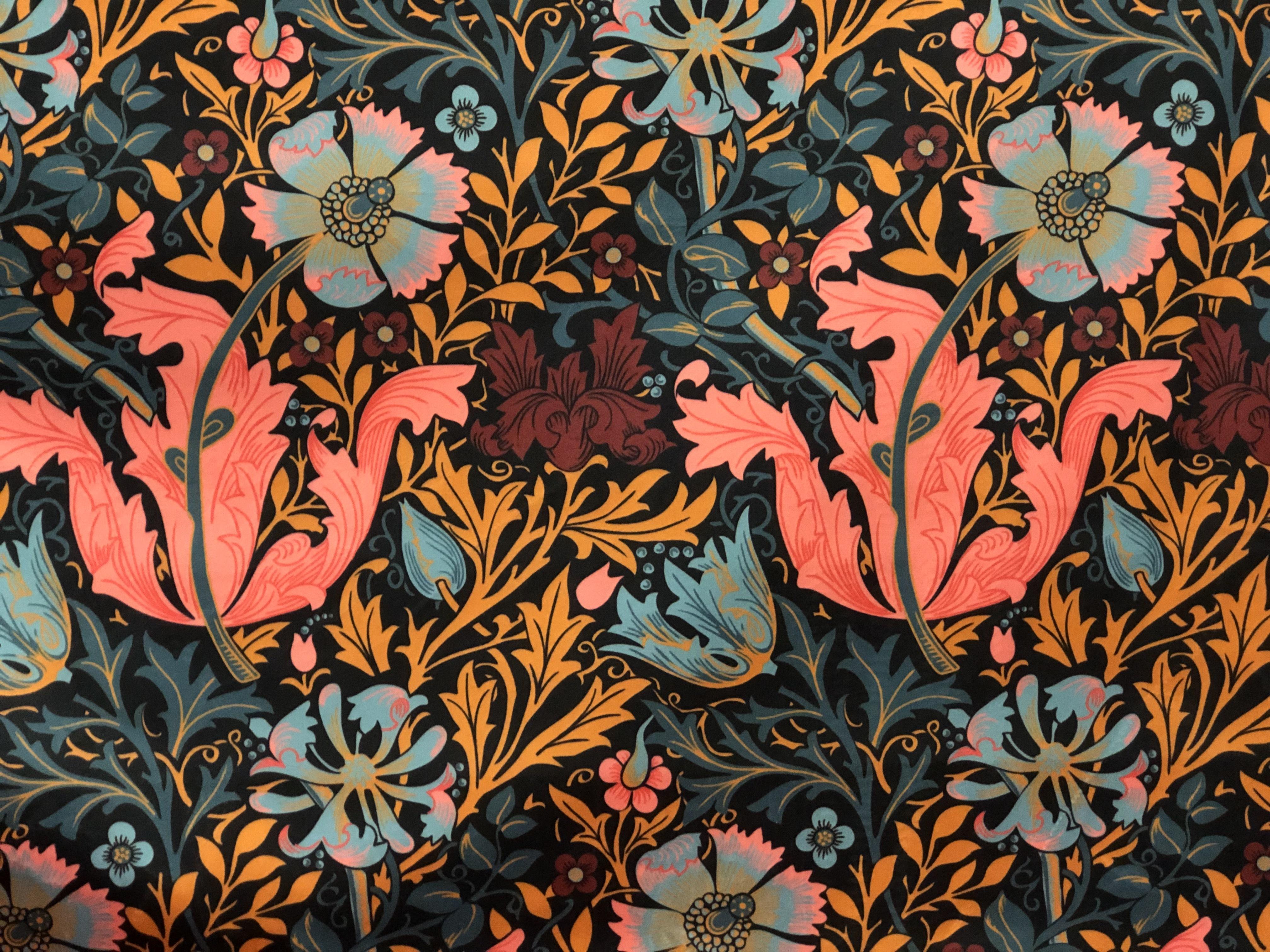 Upholstery Floral Velvet Crush Fabric