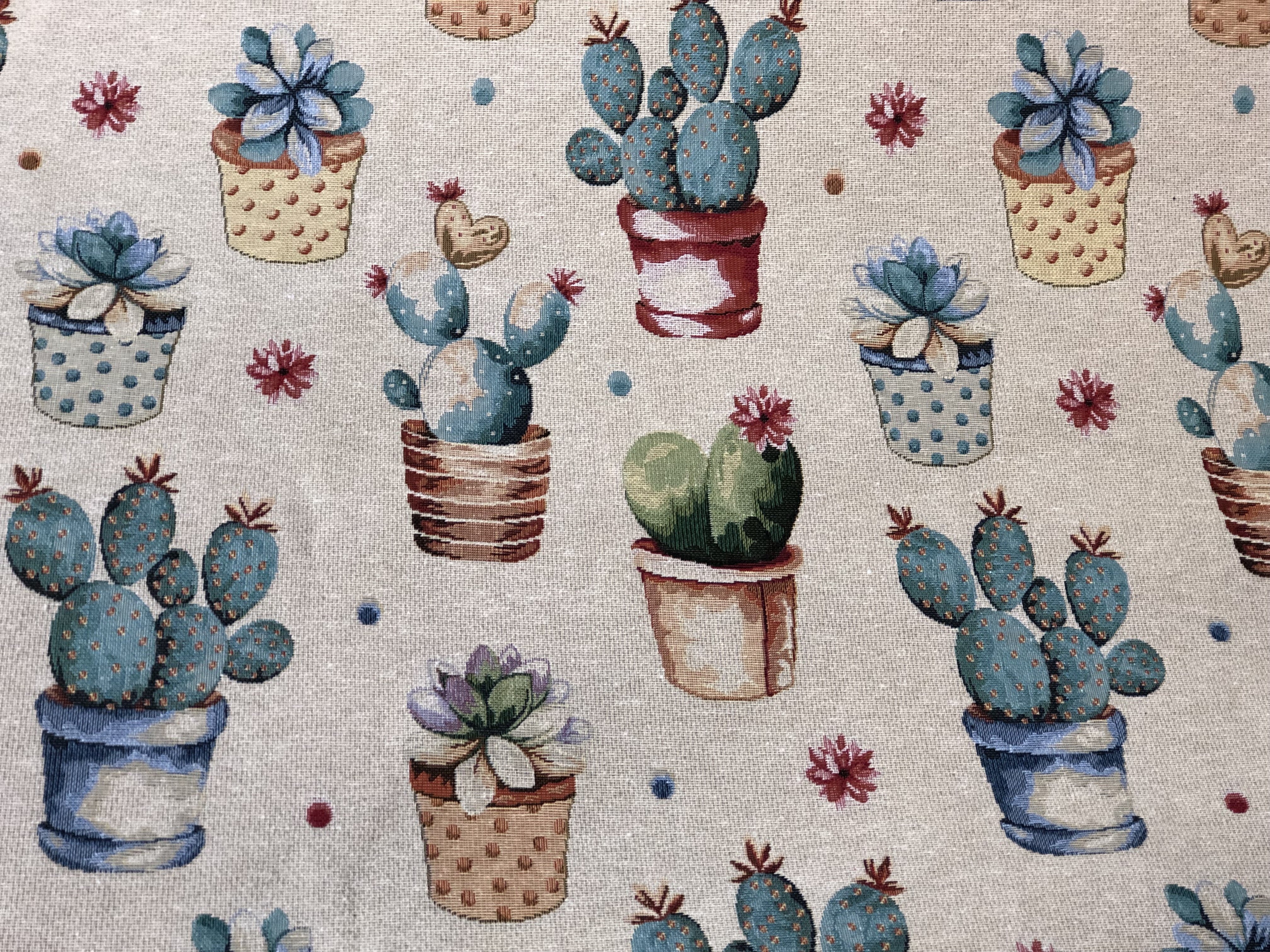 Floral Pots Tapestry Fabric 00031