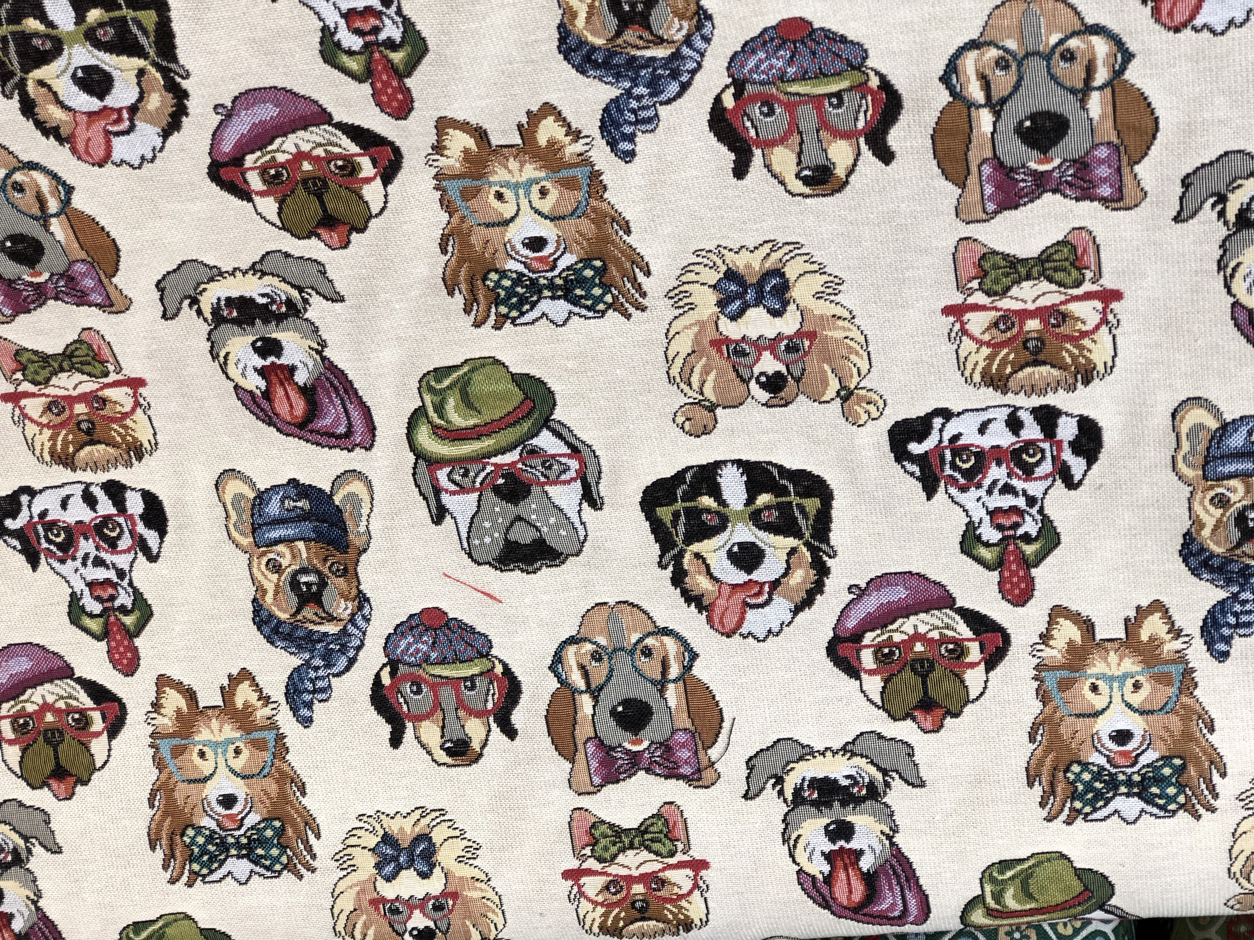 Dog Lover Tapestry Fabric 00036