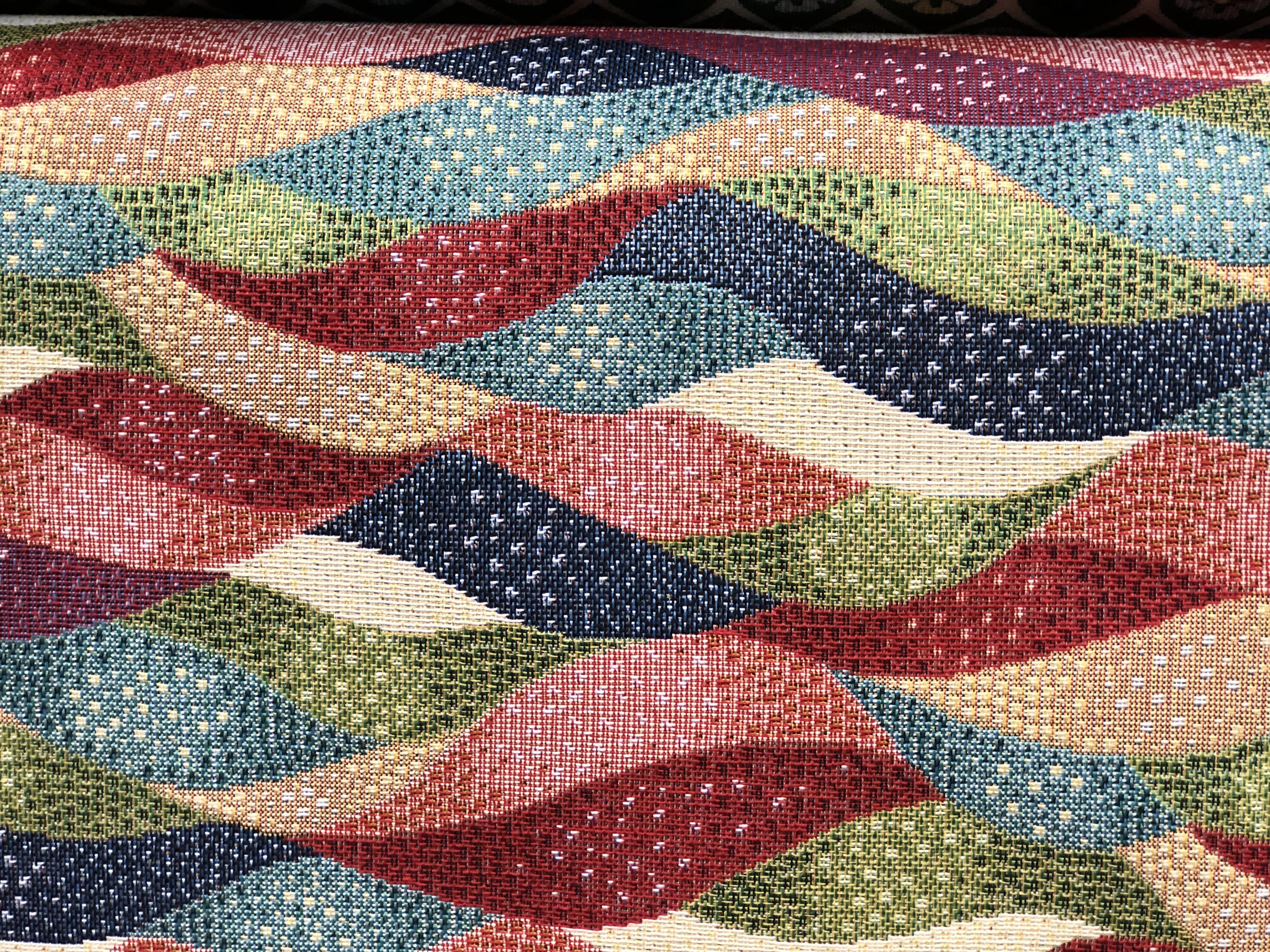 Colorful Wave Tapestry Fabric 00034