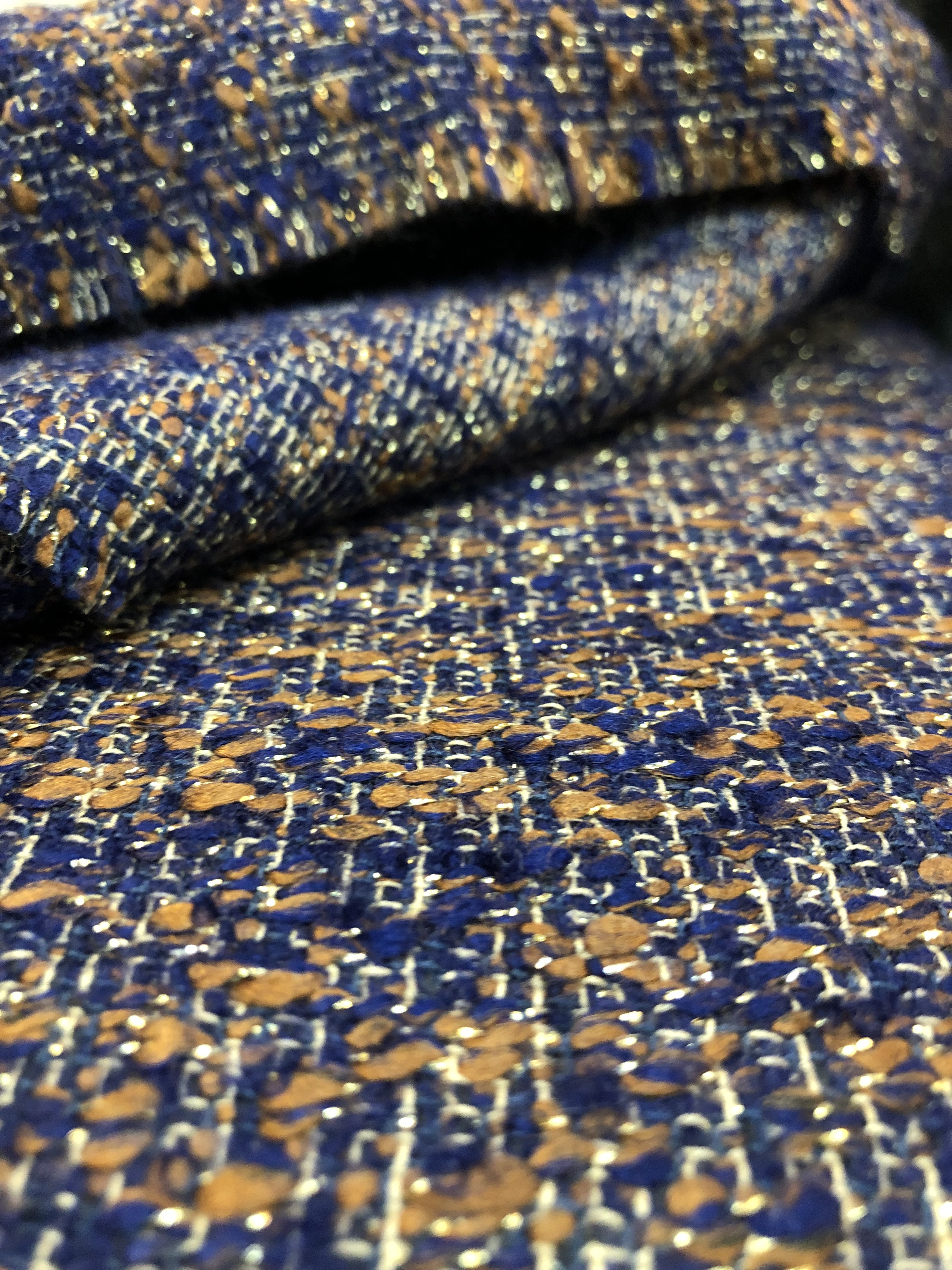 100% colorful wool fabric