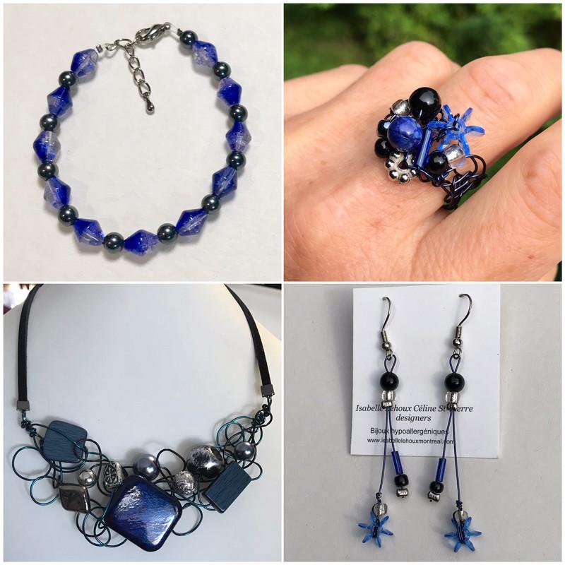 Ensemble Bijoux Bleu D'atmosphère