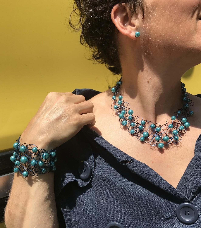 Ensemble Bijoux Royal Perles Turquoise