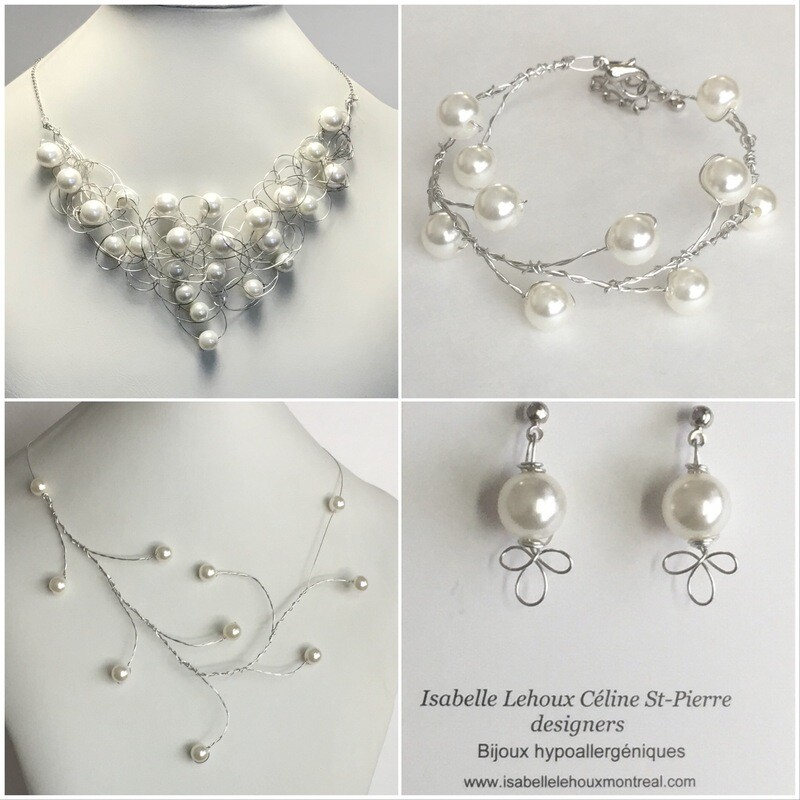 Ensemble Bijoux Fantaisie Perles Classique