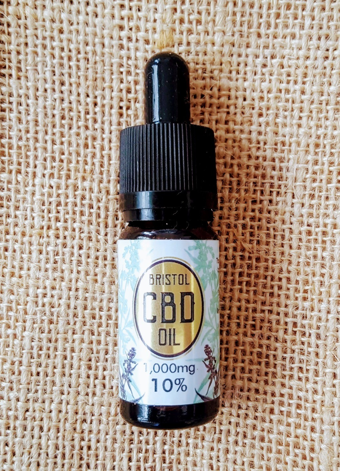 1000mg (10%) 'Gold' CBD oil 10ml dropper bottle