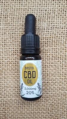 2000mg (20%) CBD oil 10ml dropper bottle