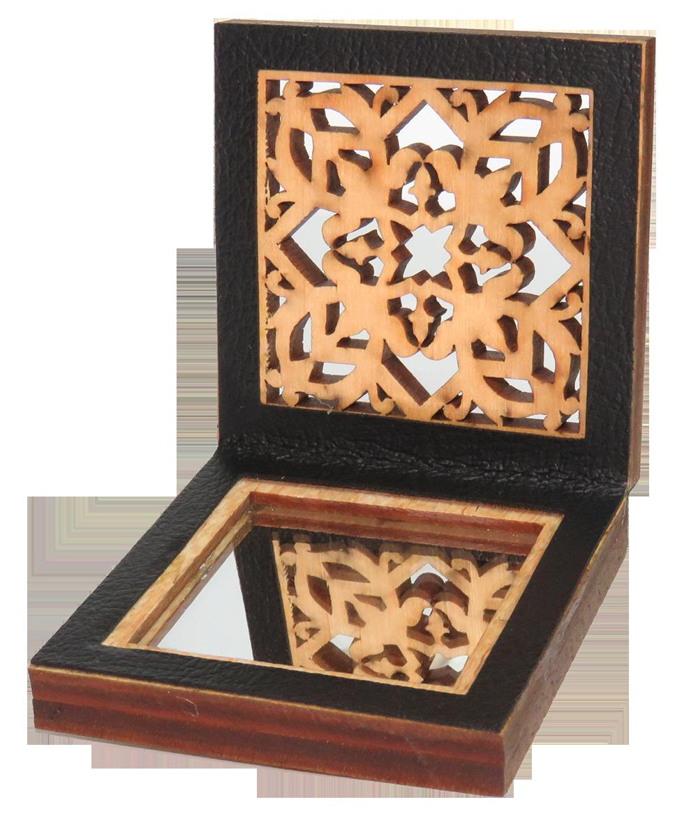 Cermin Muka Motif Geometri