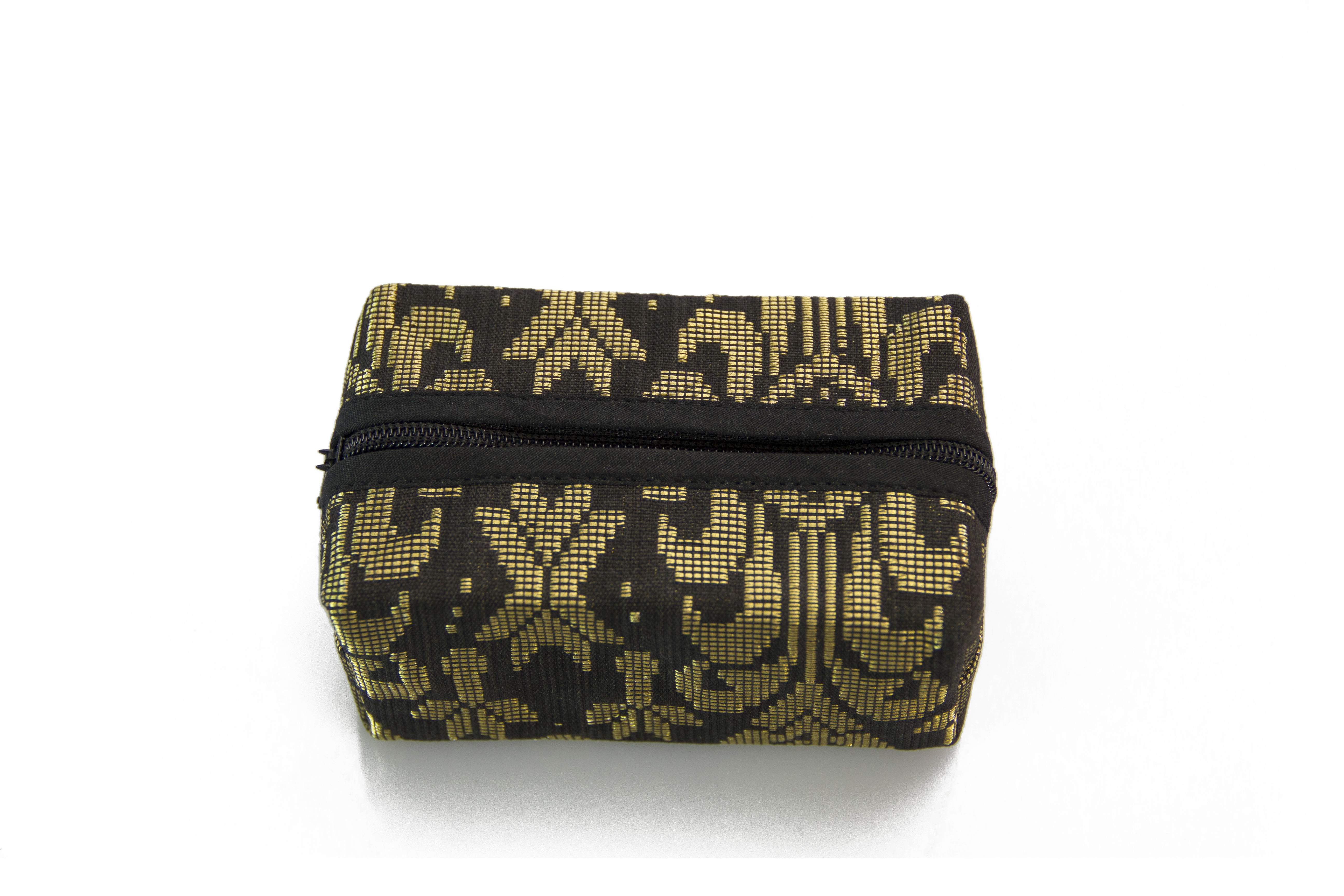 Block Coin Pouch Songket (Black)