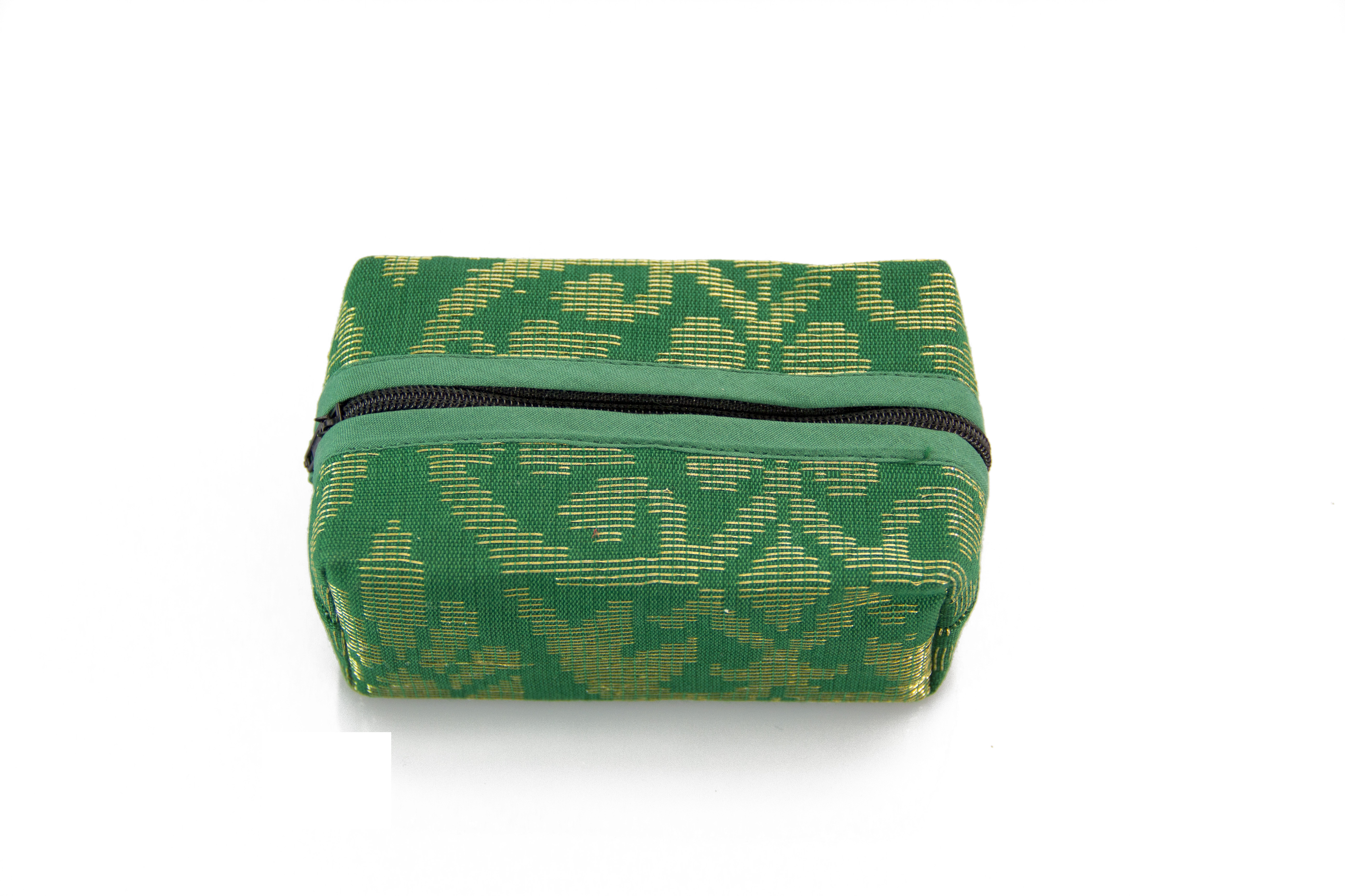 Block Coin Pouch Songket (Green)